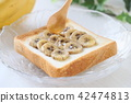 바나나, 토스트, 구운 빵 42474813