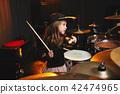 drums, drum, girl 42474965