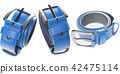 Leather belts isolated on white background 42475114