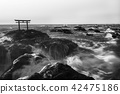 photo of Japanese shrine gate on the rock 42475186