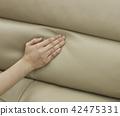 接觸軟的沙發的手 42475331