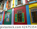 Colourful building in little India Singapore 42475354