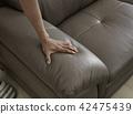 接觸軟的沙發的手 42475439
