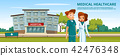 cartoon man woman doctors medical service 42476348