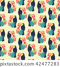 toucan flowers flower 42477283