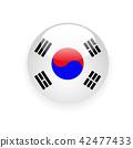 South Korea flag round button icon 42477433