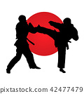 karate, fighter, silhouette 42477479