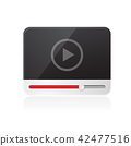 Interface of video player icon on white background 42477516