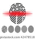 手指 扫描 指纹 42478518