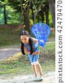 여름, 어린아이, 공원 42479470