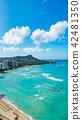 하와이 호놀룰루 와이키키 해변 다이아몬드 42481350