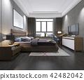 modern luxury bedroom with loft style 42482042