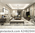 modern dining room and living room luxury decor 42482044
