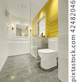 minimal yellow vintage bathroom 42482046