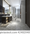 modern loft bathroom with luxury tile decor 42482048