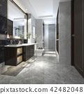modern loft bathroom with luxury tile decor 42482048