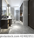 modern loft bathroom with luxury tile decor 42482051