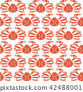 Snow crab pattern vector. Seafood background. 42488001