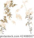 bamboo, branch, drawing 42488007