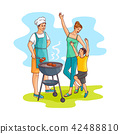vector, barbeque, bbq 42488810