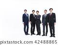 业务whiteback大量的商人男性 42488865
