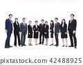 業務whiteback大量的商人男性 42488925