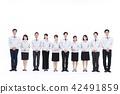 비즈니스 부동산 건설 및 생산 흰색 배경 어른 42491859