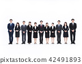 企业白色后面大小组商人女性人 42491893