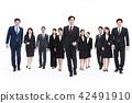 企业白色后面大小组商人女性人 42491910