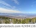 从北Yatsugatake索道到中央阿尔卑斯山,Ontakeyama方向 42494136