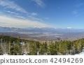 从北Yatsugatake索道到中央阿尔卑斯山,Ontakeyama方向 42494269