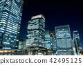 고층 빌딩 야경 (마루 노우치) 42495125