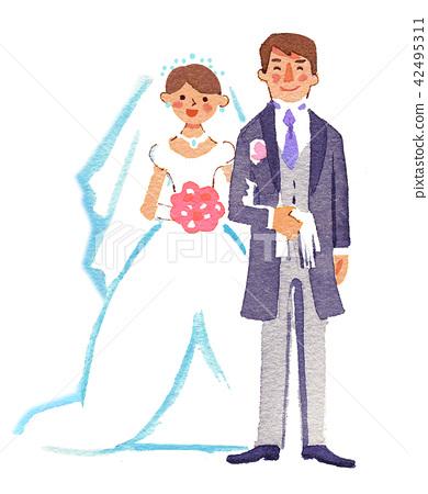新郎 新娘 婚礼 42495311