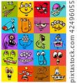 monster, face, cartoon 42496055