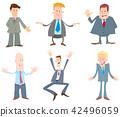 cartoon businessman character 42496059