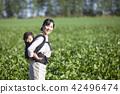 同時保持嬰兒家庭園藝 42496474