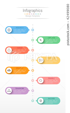 Infographic design elements with 8 options. 42499080