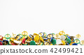 colorful thumb tack on the white background 42499421