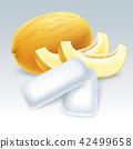 哈密瓜 口香糖 向量 42499658