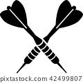 Darts Dart Arrows Crossed 42499807