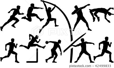 Athletics set decathlon 42499833
