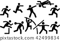 Athletics icon set decathlon 42499834