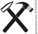 hammer, vector, tool 42502924