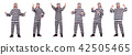 Prison inmate isolated on the white background 42505465