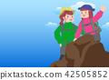 등산, 하이킹, 여성 42505852