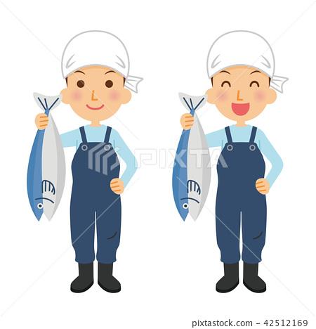 생선 가게, 어부, 고기잡이 42512169