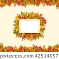 Vector autumn leaves square frame 42514057