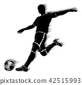 soccer player silhouette 42515993