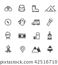 Camping Icons, Vector Illustration Design 42516710