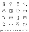 Kitchen Accessories and Cooking Icons, Vector 42516713